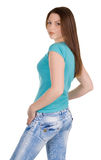 Back view of young female Stock Photo