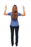 Back view of young female standing in full length Stock Photos