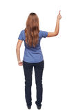 Back view of young female standing in full length Royalty Free Stock Photo
