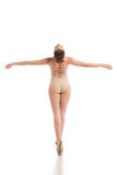 Back view of young modern ballet dancer isolated Royalty Free Stock Photo