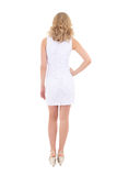 Back view of young woman in white dress Royalty Free Stock Photography