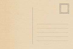 Back of vintage blank postcard. Isolate on white background stock photography