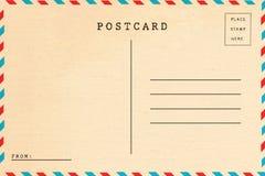 Back of vintage blank postcard royalty free stock photo
