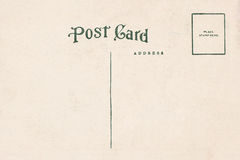 Back of vintage blank postcard Royalty Free Stock Photos