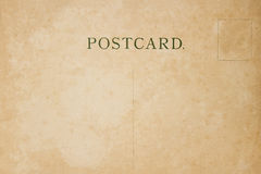 Back of vintage blank postcard stock photography