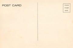 Back of vintage blank postcard Stock Photography