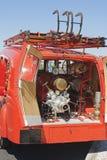 Back vintage firemen truck Royalty Free Stock Images