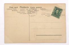 Back of a vintage postcard stock photography