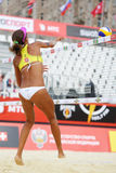 Back of volleyball player from Brazil Stock Photos