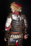 Back of warrior. Image of knights back. studio shot Royalty Free Stock Photos