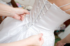 Back of the wedding dress Stock Images