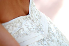 Back of Wedding Dress Royalty Free Stock Photography