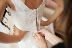 Back of Wedding Dress Royalty Free Stock Images