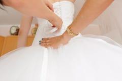 Back of Wedding Dress Royalty Free Stock Images