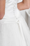 Back of Wedding Dress Stock Photography