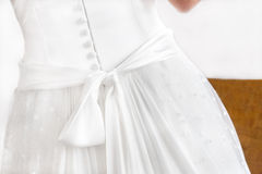 Back of Wedding Dress Stock Image