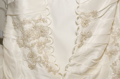 Back of wedding gown Stock Images