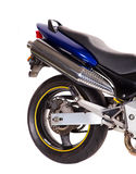 Back wheel of the motorcycle. Royalty Free Stock Photo