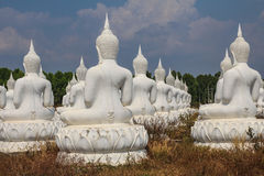 The back of White Budda Royalty Free Stock Photo