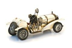 Back of white oldtimer model Stock Image