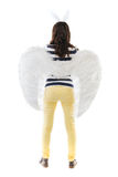 Back of a woman with angel wings Royalty Free Stock Photography
