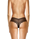 Back of woman in black panties Stock Photography