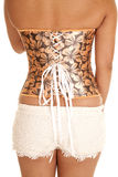 Back woman corset tie and lace shorts Royalty Free Stock Photos