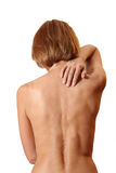 Back woman naked Stock Photography