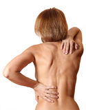 Back woman naked Stock Photo