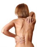Back woman naked Stock Photo