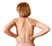 Back woman naked Royalty Free Stock Image