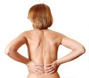 Back woman naked royalty free stock image