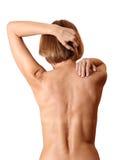 Back woman naked Stock Image