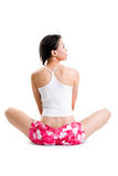 Back of woman rest and relax Stock Photo