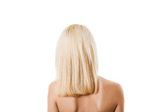 Back women blonde isolated Stock Images