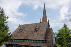 Back of the wooden church Stock Images