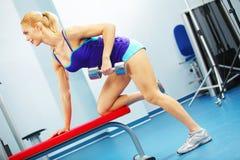Back workout Stock Photo