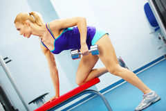 Back workout Royalty Free Stock Photos