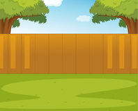 Back yard. Illustration of an empty garden Royalty Free Stock Photo