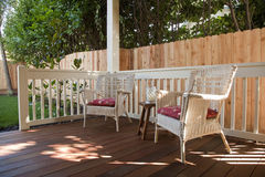 Back Yard Deck Royalty Free Stock Images