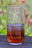 Back yard ice tea Stock Image