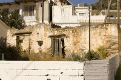Back yard lifestyle in Crete Royalty Free Stock Photography