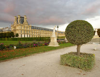 Back yard of The Louvre Palace, Paris Stock Photo