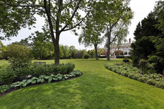 Back yard of luxury home royalty free stock images