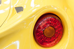 Back of a yellow sport car Royalty Free Stock Image