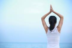 Back of yoga woman Stock Image