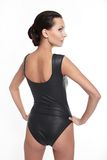 Back of Young beautiful woman in black body Royalty Free Stock Photo