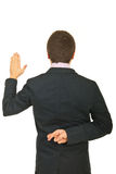 Back of young businessman liar Royalty Free Stock Photography
