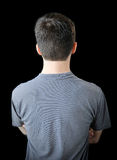 Back of young man Stock Photo