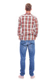 Back of young man hands in pockets Stock Images